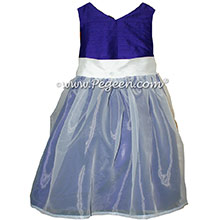 Royal Purple Silk Flower Girl Dresses by PEGEEN STYLE 301