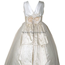 ivory and creme bisque flower girl dresses
