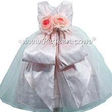 Petal Pink silk Organza Flower Girl Dresses by Pegeen