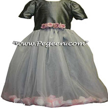 silver gray petal dress