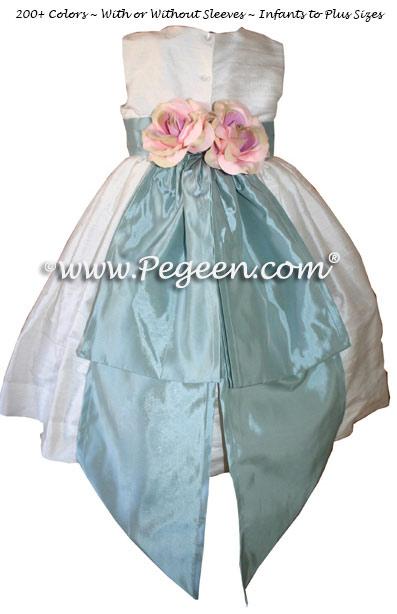 Matching Jim Hjelm Silk Flower Girl Dresses Style 383