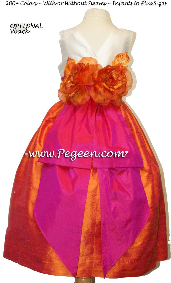 Hot pink and orange flower girl dresses discount wedding dresses hot pink and orange flower girl dresses 86 mightylinksfo