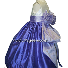 violet and lilac flower girl dresses