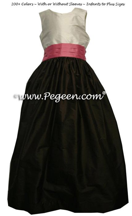 Semi-Sweet and Bubblegum Silk Flower Girl Dresses Style 388
