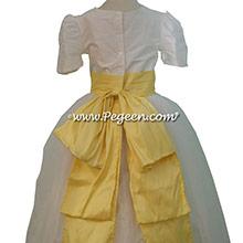 lemonade and New ivory silk Tulle Custom Flower Girl Dresses by Pegeen