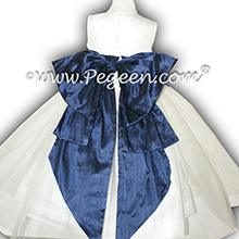New Ivory and Navy flower girl dresses - Pegeen Classic Style 394