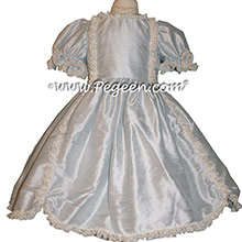 Platinum SILK DRESS FOR FLOWER GIRL by Pegeen Style 397