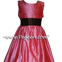 CUSTOM CORAL FLOWER GIRL DRESSES
