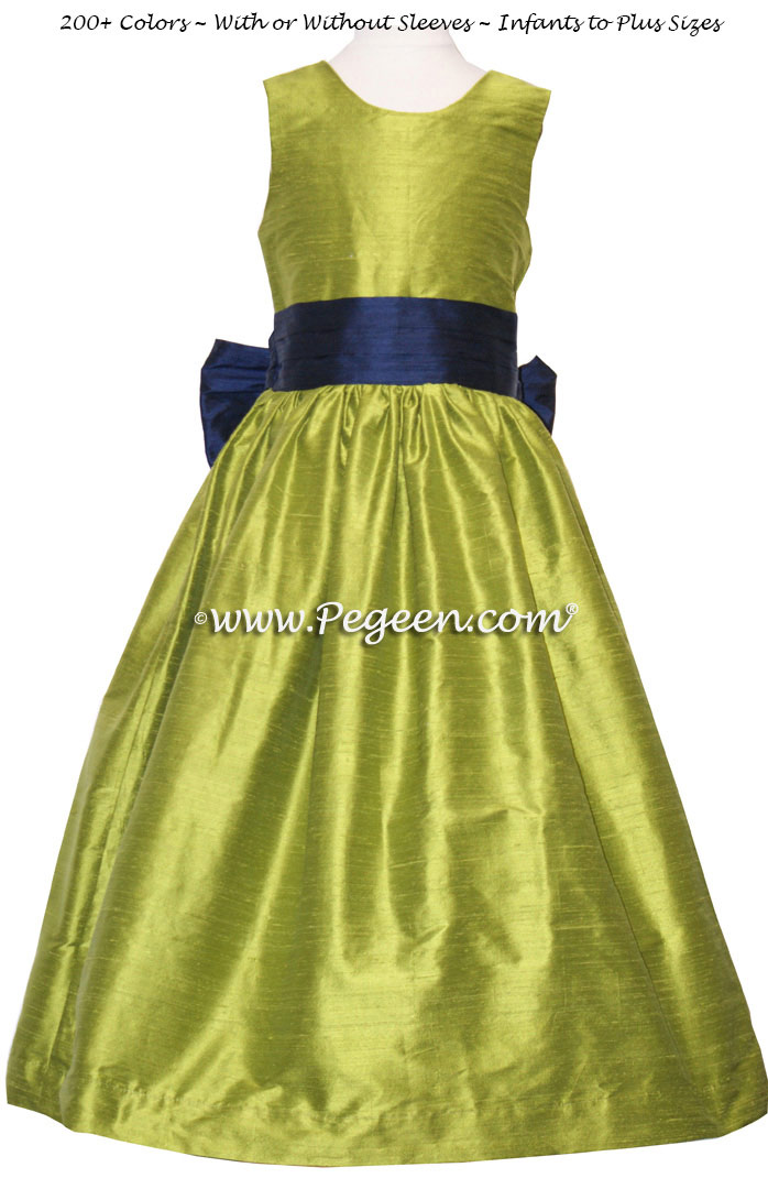Yellow Flower Girl Dress -All Over Laced Dress