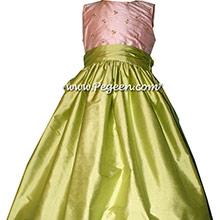 Lemonade silk -flower girl dresses