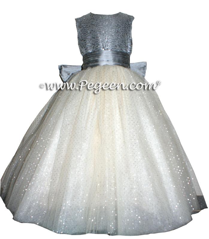 Gray flower girl dresses sanmaz kones gray flower girl dresses mightylinksfo