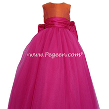 Boing and Mango ballerina style FLOWER GIRL DRESSES with layers and layers of tulle by Pegeen