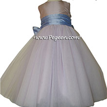 Lavender and Wisteria silk and tulle ballerina style flower girl dresses