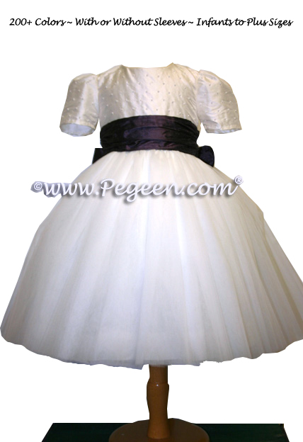 ballerina style FLOWER GIRL DRESSES with layers and layers of tulle