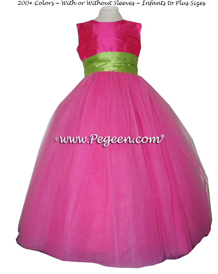hot pink flower girl dress № 139519