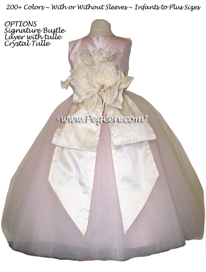 2011 Flower Girl Dress of the Year in Ballet Pink and Bisque