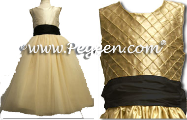 Gold and black a new trend forthcoming pegeen flower girl dress blog light gold and black silk tulle flower girl dresses by pegeen mightylinksfo