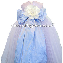 Wisteria and Light Orchid ballerina style Flower Girl Dress with Myltiple layers of Different colors of tulleWisteria and Light Orchid ballerina style Flower Girl Dress with Myltiple layers of Different colors of tulle - Pegeen Couture Style 402