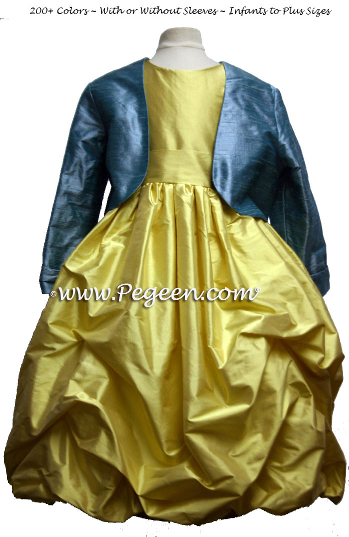Image result for beauty and the beast flower girl dresses