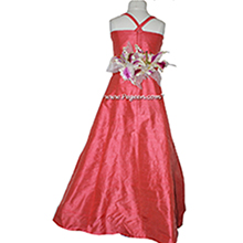 MELON silk, SORBET PINK Flower Girl Dresses in silk style 423