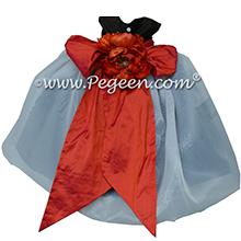 Black and Orange organza Infant Flower Girl Dresses