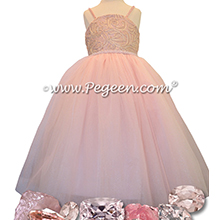 Morganite with Swarovski Crystals - Our Morganite Fairy Flower Girl Dresses Style 905