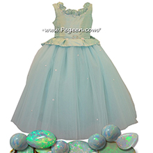 Opal Silk with Rhinestones - Our Opal Fairy Flower Girl Dresses Style 903