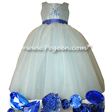 Sapphire Princess Dress with Monogramming - Our Pearl Fairy Flower Girl Dresses Style 902