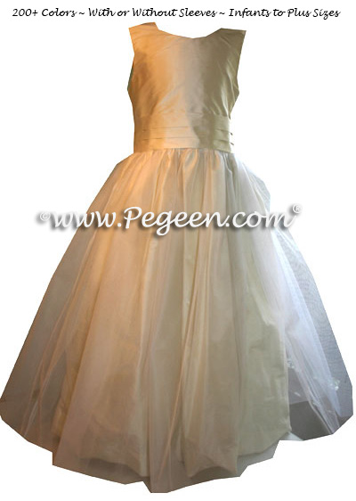 BUTTERCREME TULLE JUNIOR BRIDESMAID DRESS STYLE 356 BY PEGEEN