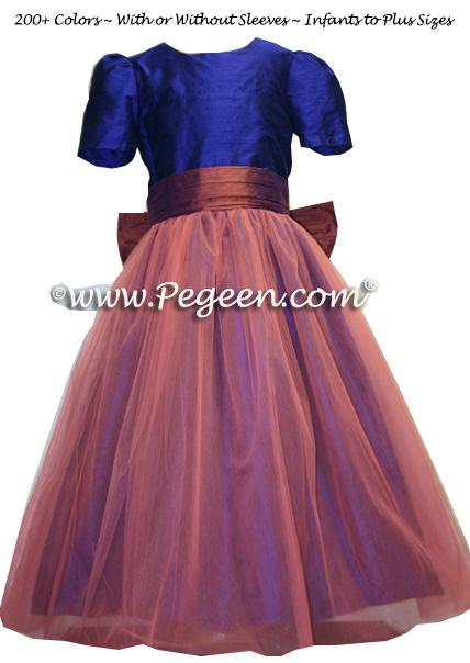Custom tulle flower girl dress