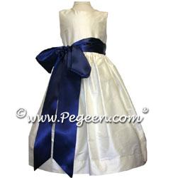 Flower Girl Dress Style 300 shown in Antique White Silk