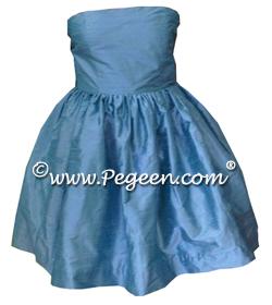 Strapless Junior Bridesmaids Dresses in silk