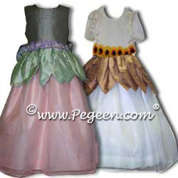 Flower Girl Dress Style 321 shown in Pink and Gray