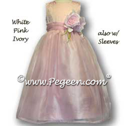 Flower Girl Dresses 325 show in blush pink