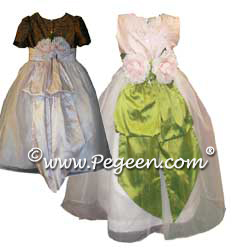 Flower Girl Dresses 369 (shown in Blush Pink & Lime Green)