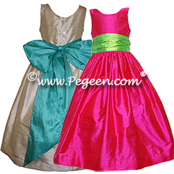 Junior Bridesmaids Dresses 388 (shown in Raspberry)