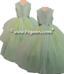 Layered Tulle Flower Girl Dress Style 406