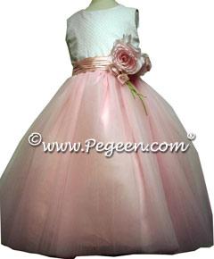 Dotted Swiss/Tulle Flower Girl Dresses