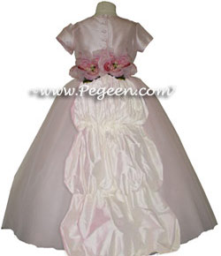 Tulle and Train Flower Girl Dresses