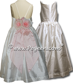 Spagetti Strap Flower Girl Dresses with Open Back