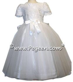 Aloncon lace White Communion Couture Dress Style 961