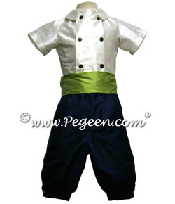 Prince George from the Regal Collection Style 509 Page Boy Suit shown in Navy and Sprite