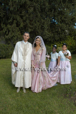 Pink And Blue With Ivory Junior Bridesmaids For Indian