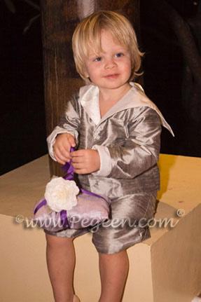 Boy's Eton Suit with Cummerbund Set