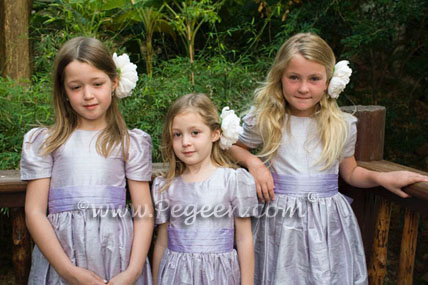 Light orchid and Lilac flower girl dress