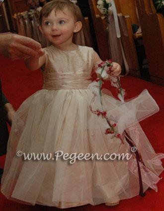 Champagne Custom Flower Girl Dresses Style 356