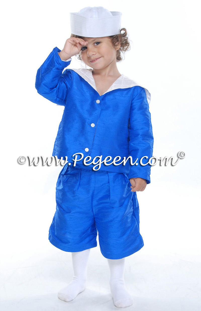 Sailor suit by Pegeen Boys silk ring bearer suit