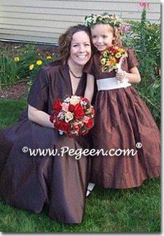 Brown Theme Inspired Weddings Chocolate Brown Flower Girl
