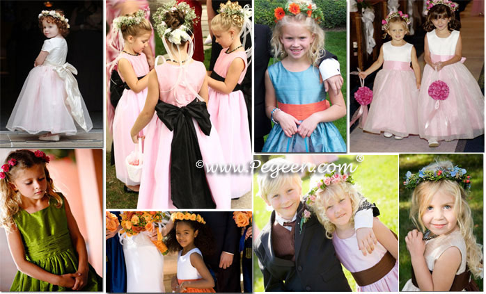 Flower girl wreaths and Flower girl dresses and wreaths by Pegeen.com