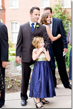 Navy and Sage flower girl dresses